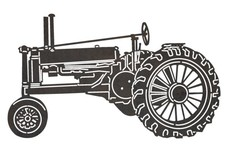 Farming Antique Tractor DXF File