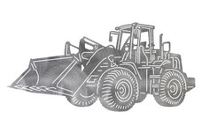 Front-End Loader Tractor DXF File