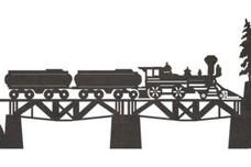 Train on Bridge DXF File