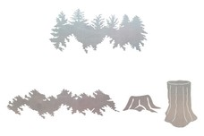 Tree & Stump Scenes DXF File