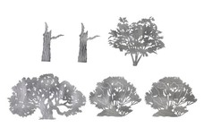 Treetops and Trunks DXF File