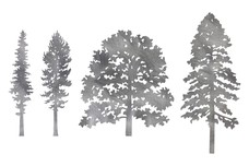 Four_Tree_Scenes DXF File
