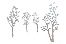 Four Small Trees DXF File