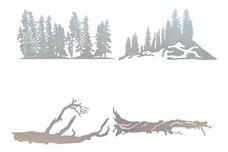 Tree Scenes DXF
