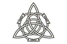 Triquetra with Embellishments DXF File