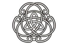 Twisting Triquetra Symbol DXF File