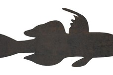 Tropical Fish Side Silhouette DXF File