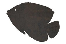 Silhouette of Tropical Fish DXF File