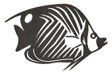 Thread-fin Butterfly Tropical Fish DXF File
