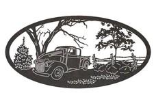 Truck Oval Art