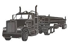 Logging Truck DXF File