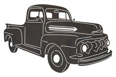 1952 Ford Truck DXF File