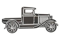 Old Truck Side-Profile DXF File