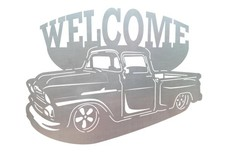 Classic Truck Welcome Sign