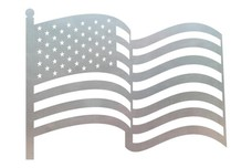 U.S. Flag & Pole DXF File