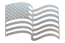 Waving U.S. Flag DXF File