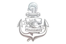 US Marines Anchor Wall Art