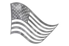U.S. Flag Waving DXF File