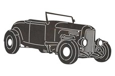 1920 Vintage Ford Convertible DXF File