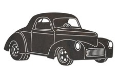 Vintage Ford Coupe Stock Art