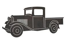 Vintage Ford Truck DXF File