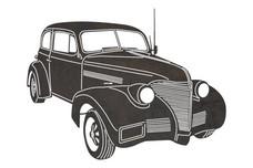 Vintage Ford V8 Stock Art