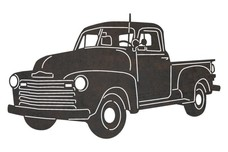 Vintage Pickup DXF File