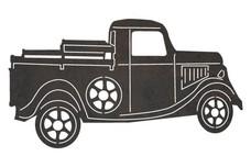 Vintage Pickup Truck DXF File