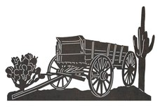 Old Western Wagon DXF File