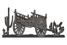 Western Wagon DXF File