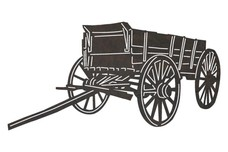 Old-fashioned Wooden Wagon DXF File