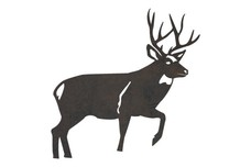 White-Tailed Buck Raising Foot DXF File