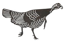 Wild Turkey Side-Profile DXF File