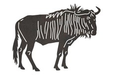 Wildebeest Side View DXF File