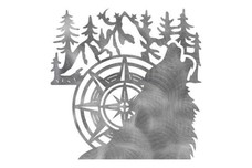 Wolf Compass Stock Art