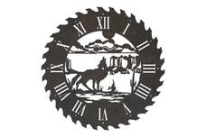 Wolf Sawblade Clock