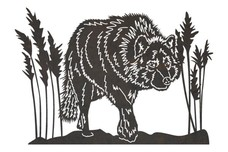Eastern Timber Wolf DXF File
