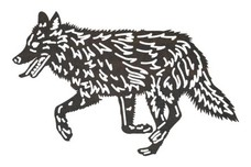 Running Wolf DXF File