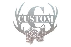 Custom Antler Monogram (C) Wall Art
