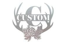 Custom Antler Monogram (C) Wall Art