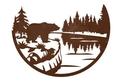 Bear And Lake Wall Art