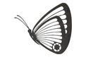 Flying Butterfly Side-Profile DXF File