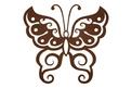 Swirly Butterfly DXF File