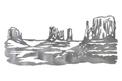 Desert Buttes DXF File