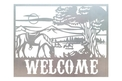 Cowboy and Horse Welcome Sign