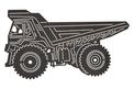 Dump Truck Side-view DXF File