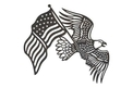 Eagle And Flag Wall Art