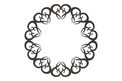 Wreath of Hearts DXF File
