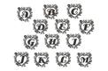 Heart Monogram (A To M) Wall Art
