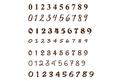 Numbers Stock Art